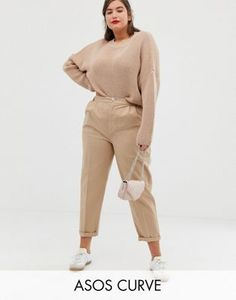 Find the best selection of ASOS DESIGN Curve chino pants. Shop today with free delivery and returns (Ts&Cs apply) with ASOS! Fashion Office, Business Fashion, Plus Size Tips, Plus Size Model, Plus Size Dresses, Plus Size Outfits, Plus Size Fashion For Summer, Safari, Dresser