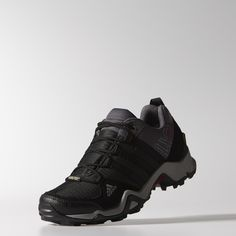 These women's multifunctional outdoor shoes are designed to be light and fast on the trail. Built with a waterproof, breathable GORE-TEX® lining and EVA midsole with ADIPRENE® cushioning.