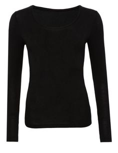 Black l/s top (skinny fit, heatgen)