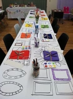 rainbow art party - paper table cloth with picture frames drawn on it Source by clothes ideas Source by EnaClothes table clothes ideas Art Themed Party, Art Party, Kunst Party, Artist Birthday, Party Fiesta, Fiestas Party, Rainbow Art, Rainbow Table, Partys