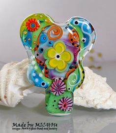 Sweet Fragrance  Art Glass Focal Bead by Michou P. by michoudesign, $98.00