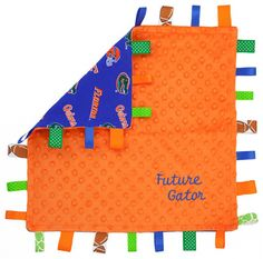 Florida Gator Baby Lovey Blanket soft dotted by HeartFeltGiftz, $24.99