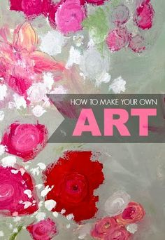 Craft paint flowers on white wood, paint a light grey over when dried