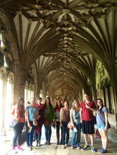 Students Discover the Inside of the Canterbury Cathedral! #CazAbroad #CazCollege