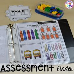 Organization HACKS to make student portfolios and assessments easier. For preschool, pre-k, and kindergarten. Organisation Hacks, Organizing Hacks, Classroom Organization, Classroom Setup, Classroom Management, Preschool Assessment Forms, Preschool Classroom, Preschool Activities, Preschool Education