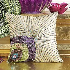 Peacock Pillow from Seventh Avenue $39.95