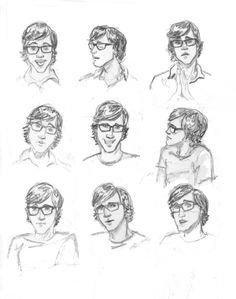 Rhett and Link study by Alyssa L. Tanner, via Behance