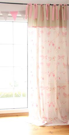 Vorhang Häuschen Rosagrau 140 X 250 Cm Vorhänge Gardinen