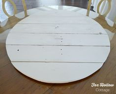 DIY Round Pallet Wood for Home Decorating by foxhollowcottage.com Round Wooden Tray, Wood Tray, Wood Table, A Table, Large Table, Unique Home Decor, Home Decor Items, Wood Pallets, Pallet Wood