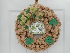St Patricks Day Wreath Shamrock wreath Irish by ChloesCraftCloset