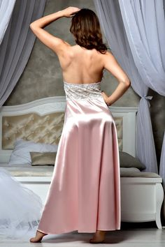 Light pink wedding long nightgown Bridal lingerie wedding image 2 sexy nightgown Light pink wedding long nightgown Bridal lingerie wedding night Bridal satin lace nightgown Honeymoon lingerie Sexy open back peignoir Lace Bridal Robe, Bridal Nightgown, Lace Nightgown, Blush Bridal, Wedding Night Lingerie, Honeymoon Lingerie, Honeymoon Dress, Satin Lingerie, Bridal Lingerie