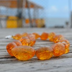 Amber dyed Quartz necklace. $28.00, via Etsy.