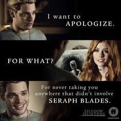 Jace and Clary. The Mortal Instruments. Tv Show. Mortal Instruments Books, Shadowhunters The Mortal Instruments, Immortal Instruments, Clary E Jace, Clary Fray, Shadow F, Freeform Tv Shows, Jace Lightwood, Shadowhunters Season 3