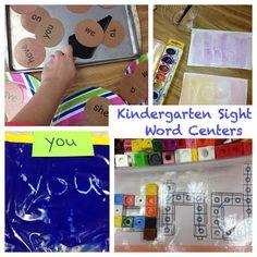 literacy center sight word activities