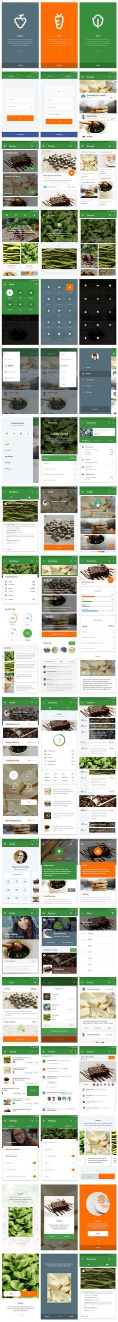 food app material design