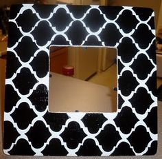 DIY Moroccan Tile Picture Frame