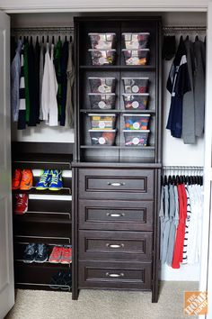 A closet organizer system to tame clutter
