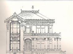 Projeto da casa de Octavio Mendes realizada por Augusto Fried.