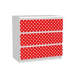 sticker commode malm etoiles rouges ikea relooking diy hack