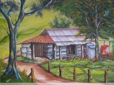 Resultado de imagen para paisajes tipicos costarricenses en oleo