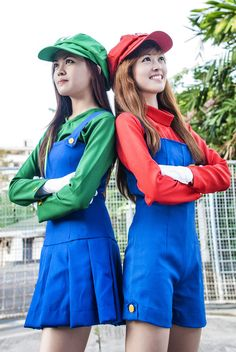 super mario sisters (female ) by chongbit.deviantart.com on @deviantART