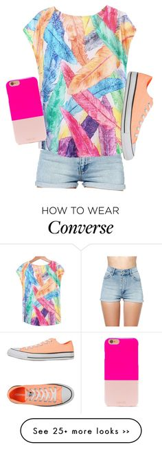 """""""Neon converse"""" by meljordrum on Polyvore featuring Cheap Monday, Converse and BaubleBar"""