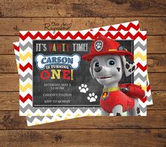 Paw Patrol Invitation by RaynebowShoppe on Etsy