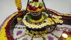 shiv ling with flowers Projects To Try, Birthday Cake, Flowers, Desserts, Food, Image, Tailgate Desserts, Deserts, Birthday Cakes
