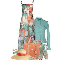 """Maxi Dress & Sandals"" by brendariley-1 on Polyvore"