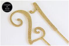 21 Gold Glitter Acrylic Cake Topper : Design @ 409