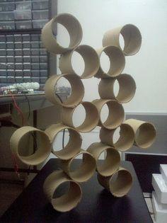 Cardboard tube shelves
