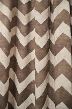 """108 in in zig zag Chevron window curtains - 44"""" x 84""""/108"""" HAND block printed Naturally Dyed, Cotton window curtain panels housewares on Etsy, $54.00"""
