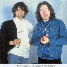 Rory Gallagher and Jimmy Page.