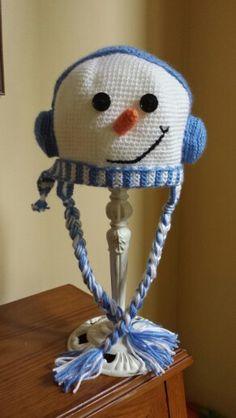 Mr Snowman Snowman, Crochet Hats, Knitting Hats, Snowmen
