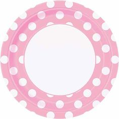 Party in Paris Pink Polkadot Dinner plate  sc 1 st  Pinterest : pink gingham paper plates - Pezcame.Com