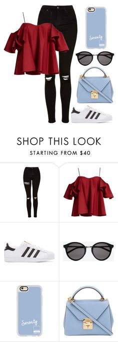 """""""#59"""" by supramann ❤ liked on Polyvore featuring Topshop, Anna October, adidas Originals, Yves Saint Laurent, Casetify and Mark Cross"""