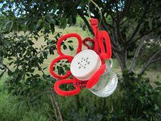 Little Susie Home Maker: Homemade Hummingbird Feeder & Recipe
