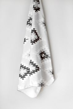 Organic Tribal Aztec Swaddle Blanket by WrenandRumor on Etsy, $36.00