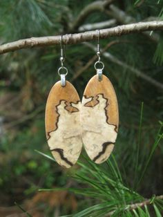 85af103b2 Wood Earrings Spalted Birch One Of My Top by forestlifecreations, $49.95  Wood Earrings, Etsy