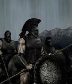 Ancient Greek hoplite, Spartan, 6-5th BC