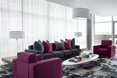 Deko Wohnzimmer Lila Modern Tendenzen Wohnfarben Hell