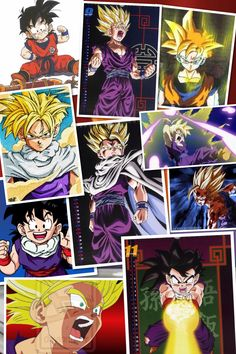 My first Dragon Ball Z collage
