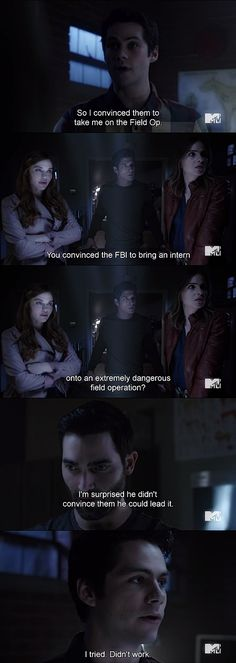#TeenWolf: Styles and Derek are always hilarious #STEREK and Lydia