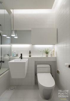 스웨그 넘치는 가족_그래피티 아티스트의 집 -위치:경기도 남양주시 별내동 -주거형태: 아파트 -면적: 111m... Bathroom Design Small, Bathroom Interior Design, Modern Bathroom, Baths Interior, Bad Styling, Home Building Design, Modern Baths, Toilet Design, Inside Design