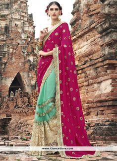 Whimsical Resham Work Classic Designer Saree