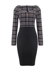 Buy Mermaid Bowknot Houndstooth Bodycon-dress online with cheap prices and discover fashion Bodycon Dresses at Fashionmia.com.