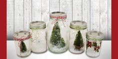 Designer Samantha is on our blog today to show you how to turn mason jars into a winter wonderland.