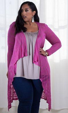 Jamie Knit Cardigan (Sherbet) $49.90 by SWAK Designs #swakdesigns #PlusSize #Curvy
