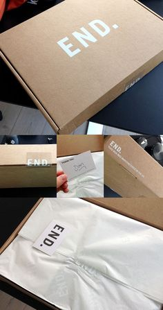 Simply stunning and so classy. A knockout idea for e-commerce packaging.