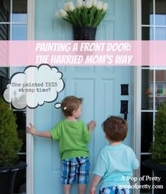 How to paint a front door - FAST!